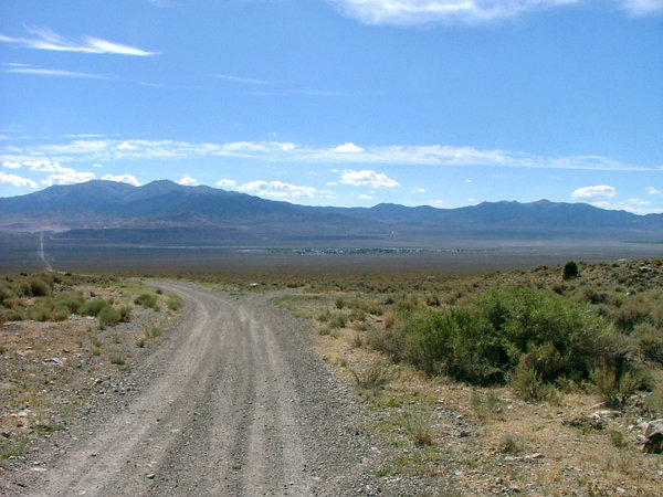 Road in the desert: Taken in August 2009, Nevada, USA.