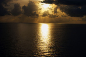 Golden Sunset: Photos taken off cruise ship to Nassau.