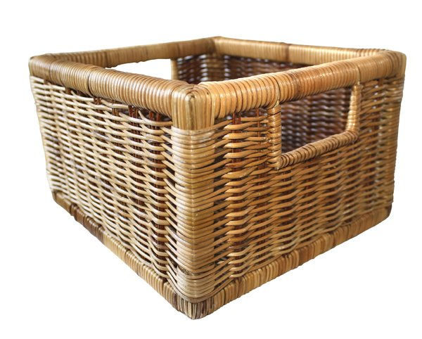 basket: wicker basket