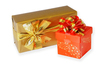 wrapped gifts: gift boxes