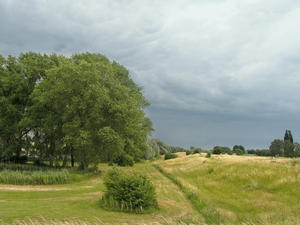 before the storm: before the storm, near deventer , the Netherlands