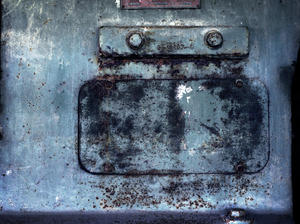 metal: old colored and corroded metal
