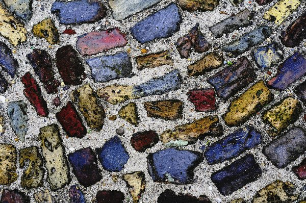 colors: colored stones