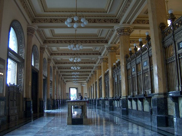 Mexico City scenes 8: Interior of Palacio Postal in Mexico City