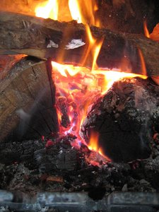 ~ Fire: Nice hot fire in winter