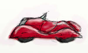 : my hot rod sketch