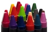 Crayons: Colourfull crayons isolated with whote background