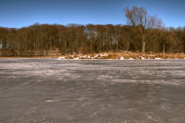 Winter Scene - HDR: Small island surrounded by ice. The picture is HDR using 8 images.
