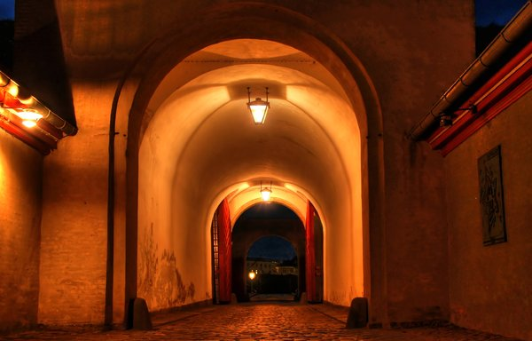 Gate - HDR: One of the gates at the old military facility: Kastellet in Copenhagen Centre.