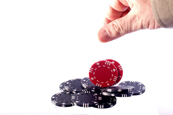 Betting: Hand betting chips in poker