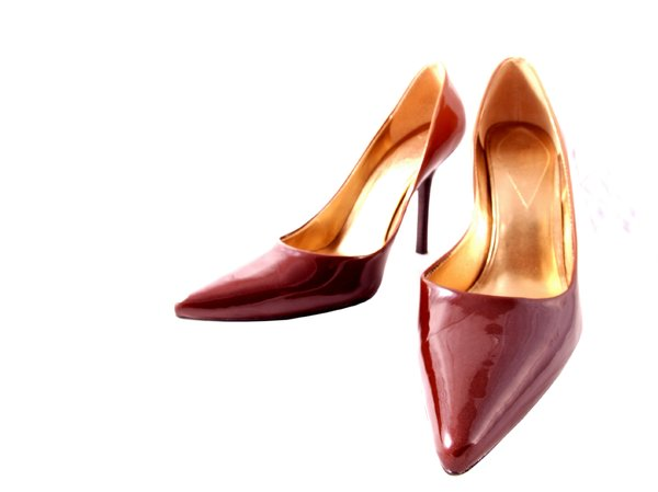 Brown high heel shoes: Womens high heel shoes in brown patent leather.