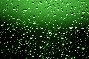 abstract in green: green gradient drops