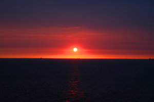 sunrise: a sunrise over the sea...