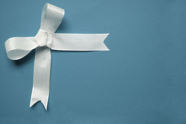 bow 3: just a simple white ribbon on different paper
