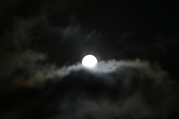 moon: a moonshot with some clouds
