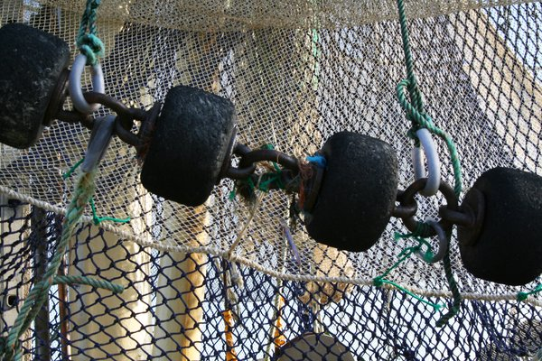 fishing nets: some nets on a fishing boat