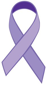 Single Ribbon Purple: