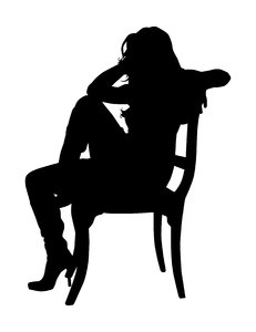 Sitting Silhouette: Vector Art