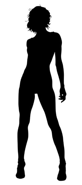 Silhouette Pose 14: Vector Art