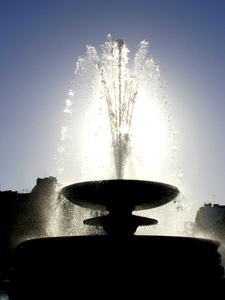Fountain: Fountain in Trafalgar Square - London