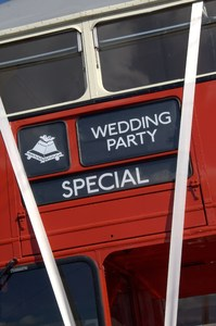 Wedding Bus: London Routemaster wedding bus