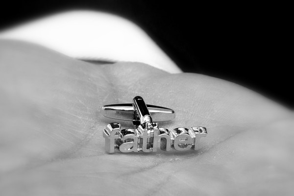 Cufflink: Father of the brides wedding day cufflink