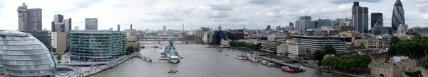 London panorama: Panorama of West London