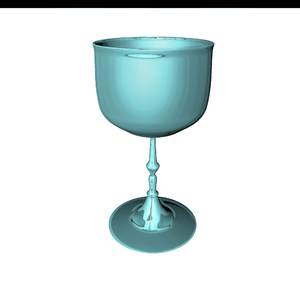 wine glass: 3D computer graphic