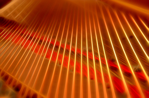piano strings: piano strings-CG
