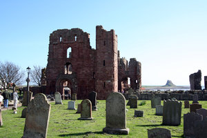 Lindisfarne Priory 1: Lindisfarne Priory on Holy Island was one of the most important centres of early Christianity in Anglo-Saxon England. It is still a place of pilgrimage today, the dramatic approach across the causeway adding to the fascination of the site.