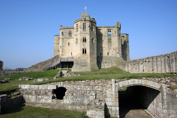 Warkworth Castle 3: Standing on a hill and dominating the village of Warkworth, the dramatic ruins of Warkworth Castle provide an evocative image of medieval strength. Norman in origin, the castle was taken over by the Percy family (of Alnwick Castle) in 1332. Later that cen