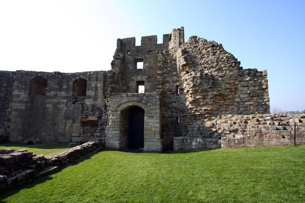 Warkworth Castle 7: Standing on a hill and dominating the village of Warkworth, the dramatic ruins of Warkworth Castle provide an evocative image of medieval strength. Norman in origin, the castle was taken over by the Percy family (of Alnwick Castle) in 1332. Later that cen