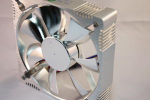 fan: Computer fan in chrome style