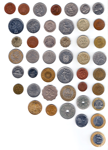 Coins: Coins from all around the world