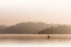 Fisherman in first Morning Lig:
