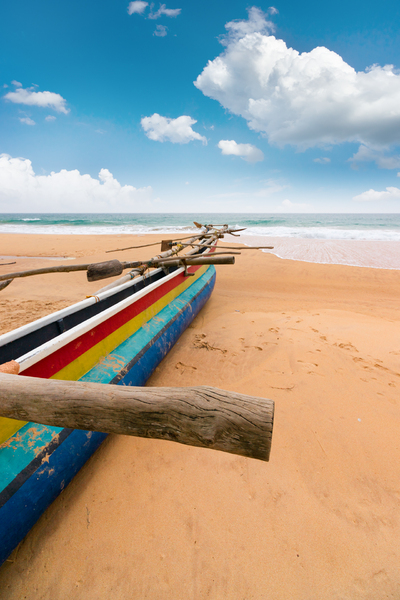 Fisher Boat on Beach Sri Lanka: Fisher Boat on beach - Sri Lanka Southern Province