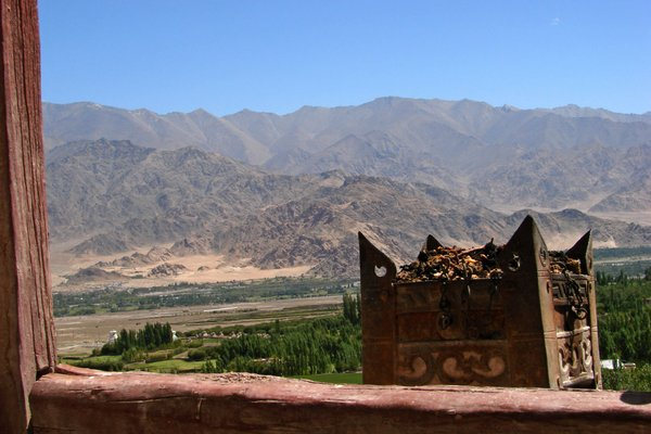 View from the Stok Palace: A View from the Stok Palace, Ladakh.