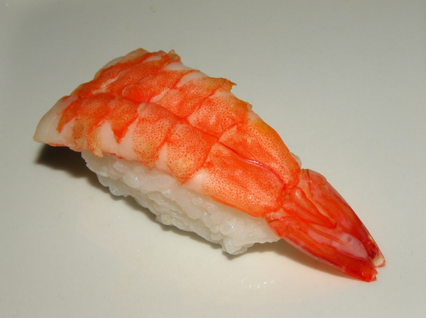Sushi - Nigiri with prawns: no description