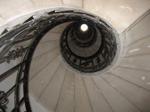 stairway: stairway to heaven (or to the top of the St. Stefans Basilika in Budapest)