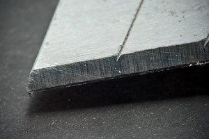 Cutting Edge: Extreme CloseUp of a Segmented blade or