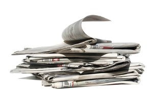 newspapers pile: none