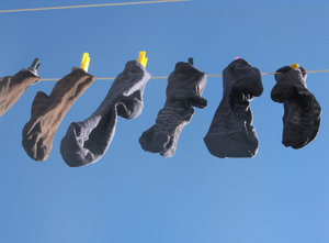 drying socks: none