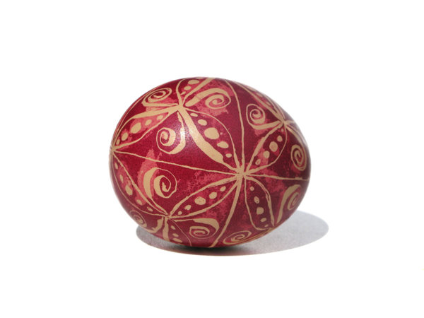 painted easter eggs: