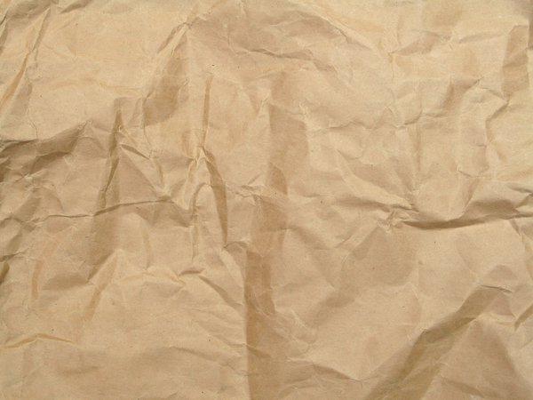 crumpled envelope: none