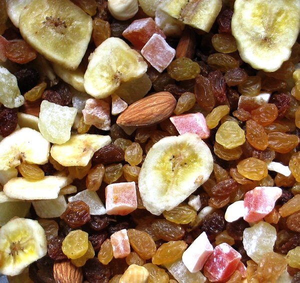 dried fruit: none