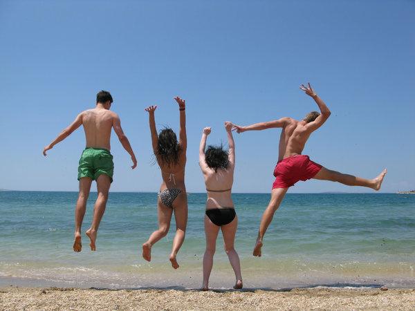 Plezier op het strand