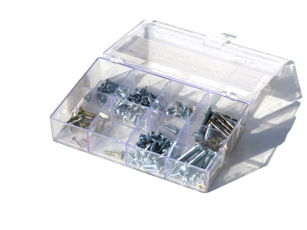box with screws: none