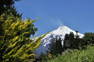 Volcan Villarica, Chile: Volcan Villarica, Chile. One of the most active volcanos in the world