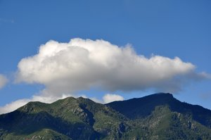 Mountains and sky: View of the mountains in Pucon, south of Chile