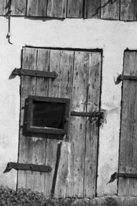Door: Old wooden door in black and white